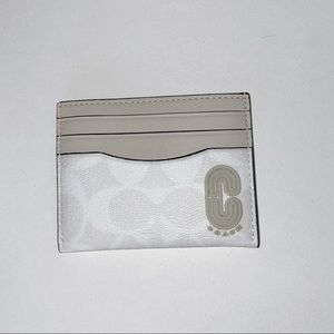 SLIM CARD CASE  SIGNATURE CANVAS WITH COACH PATCH
